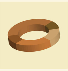 donut circle divided into sectors charts vector image