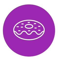 Doughnut line icon vector