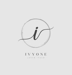 Elegant initial letter type i logo vector