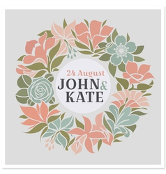 Floral wreath - wedding design vector