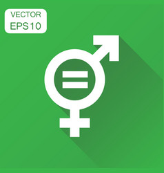 Gender equal sign icon business concept men and vector