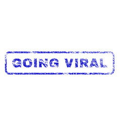 Going viral rubber stamp vector
