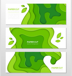 grass green abstract layout - set of modern vector image