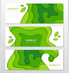 Grass green abstract layout - set of modern vector
