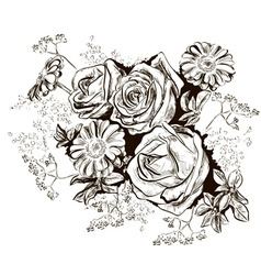Hand Drawn Bouquet Sketch vector