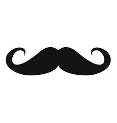 heavy mustache icon simple style vector image