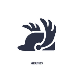 Hermes icon on white background simple element vector