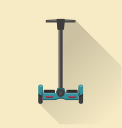 Line art style self-balancing scooter icon vector