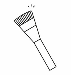 makeup brush icon vector image