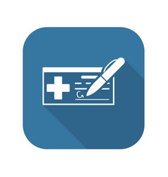 Medical prescription and services icon vector