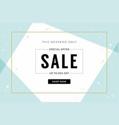 minimal sale banner template vector image