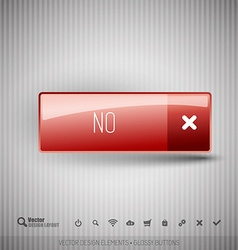 Modern button with icons set vector