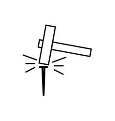 Nail hummer icon vector