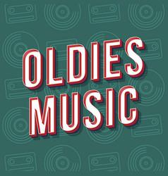 Oldies music vintage 3d lettering retro bold font vector