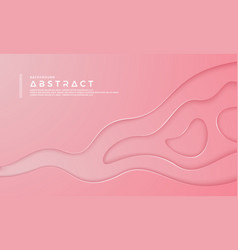 pink abstract paper cut background vector image