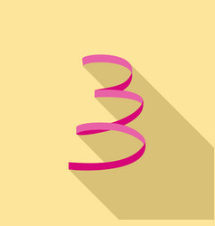 pink serpentine icon flat style vector image
