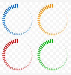 Preloader buffer shapes symbols fading vector