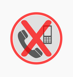 prohibiting sign for cell phone no phone sign vector image