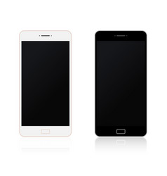 realistic smartphone new mobile collection vector image
