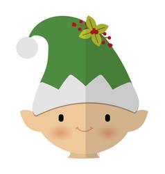 Santa helper icon vector