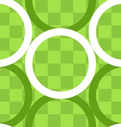 Seamless pattern of circles over checker board vector image