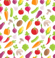 Seamless Texture of Colorful Vegetables vector image