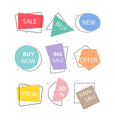 set of trendy flat geometric vivid transparent vector image