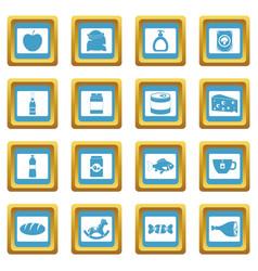 shop navigation foods icons azure vector image