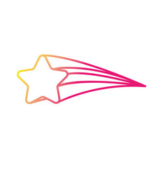 Silhouette shooting star shiny in the sky vector