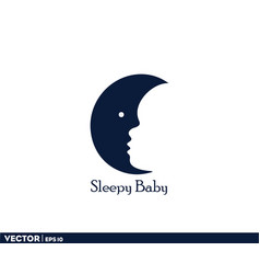 sleepy baby logo vector image