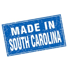 South Carolina blue square grunge made in stamp vector image vector image
