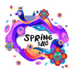 Spring sale colorful special discount banner vector