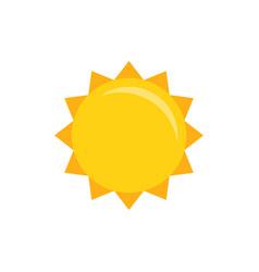 Sun icon flat vector