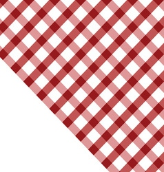 Tablecloth red and white vector