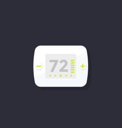 Thermostat icon flat style vector