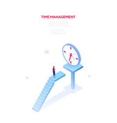 Time management - modern isometric web vector