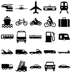 Transport Related Graphics vector