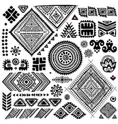 Tribal vintage ethnic pattern set vector