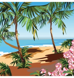 Tropical Exotic Paradise Beach vector