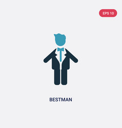 Two color bestman icon from people concept vector