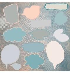 Vintage speech bubbles set vector image