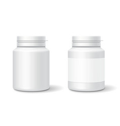 white medicine plastic bottle for tablets pills vector image