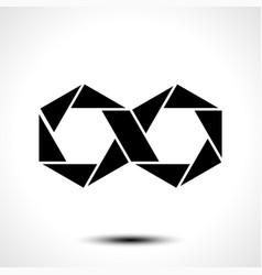 hexagon infinity logo sign vector image vector image