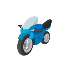Motorcycle blue cartoon icon vector image vector image