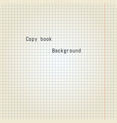 old copy book paper vector image