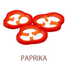 paprika icon isometric style vector image