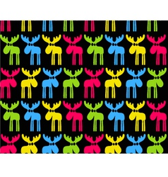Seamless background with colored elks vector image vector image