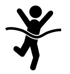 Success people run man winner flat icons pictogram vector
