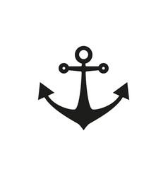 anchor black icon vector image