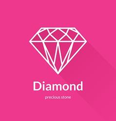 Geometric faceted diamond shape logo vector image